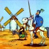 Don Quijote y los molinos de viento (CE-B2)